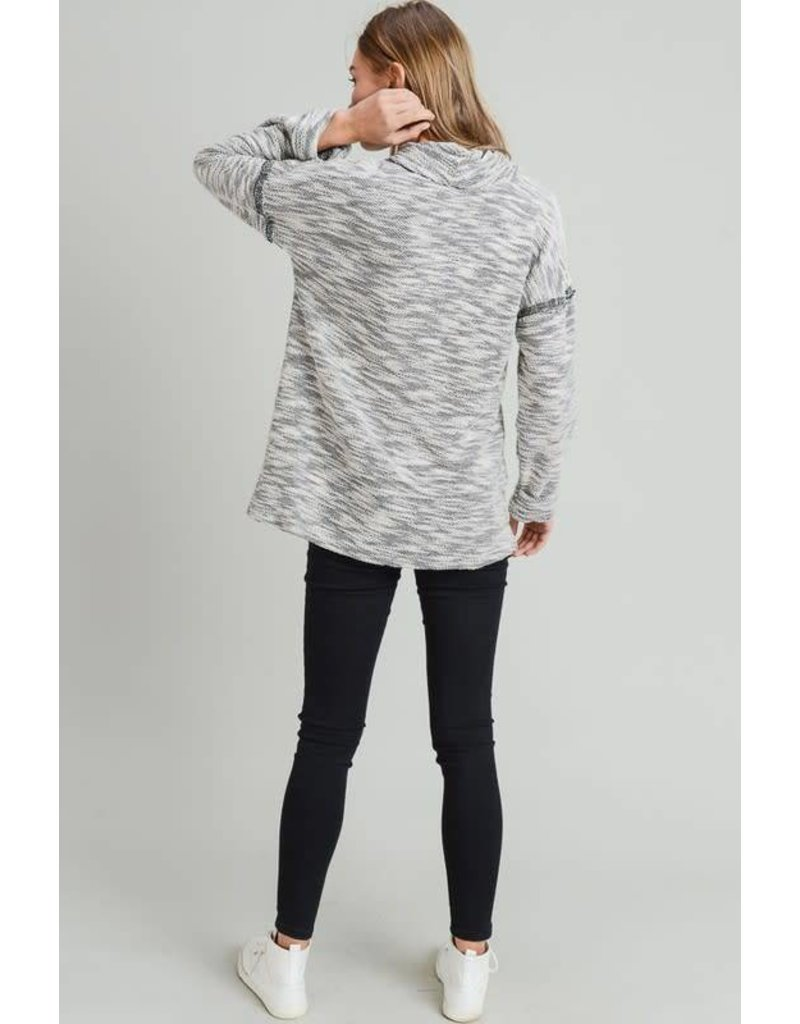 Cowl Neck Lose Knit Sweater