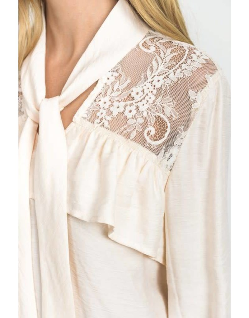 Lace & Ruffle Detail Blouse