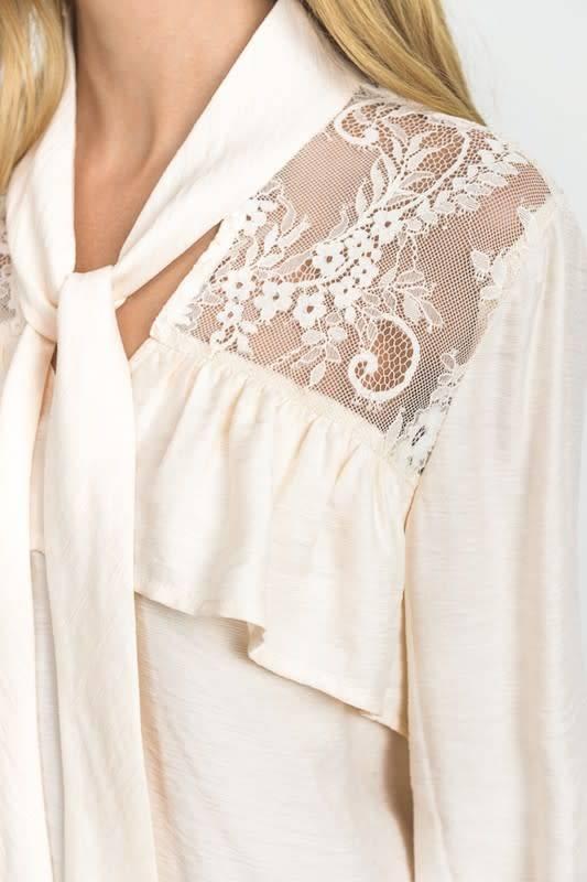 Lace & Ruffle Detail Blouse
