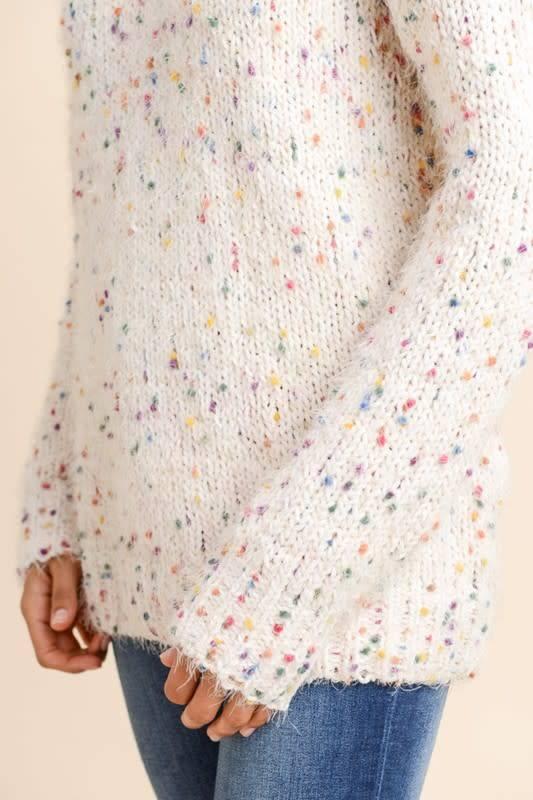 Rainbow Dot Comfy Knit Top