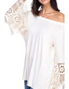 Off the Shoulder Lace Detail Top