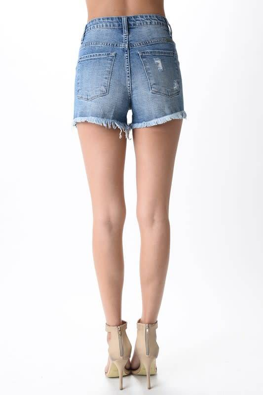 High Rise Distressed Short