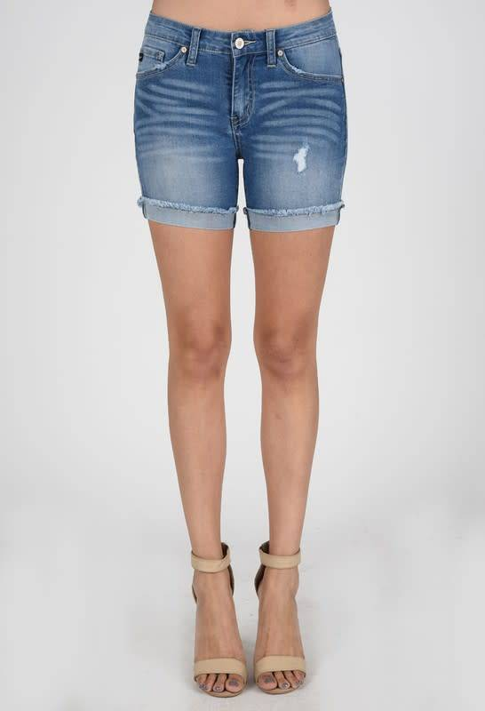 Cuffed Frayed Bottom Short