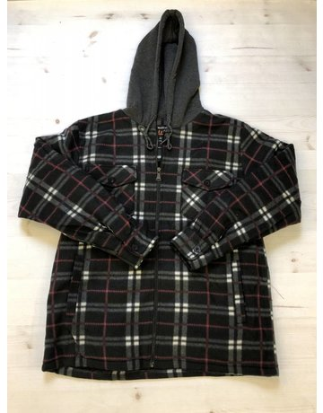 Red and black plaid wooly flannel