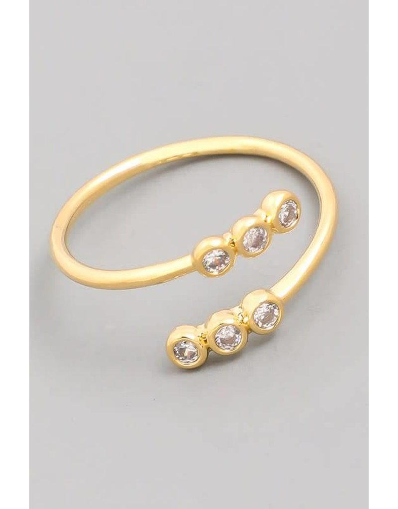 Delicate Stud Open Twist Ring