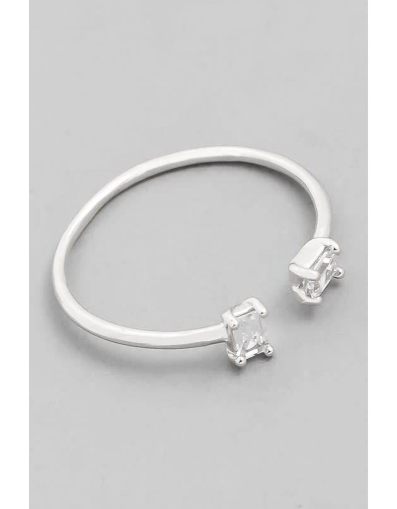 Double Square Open Ring