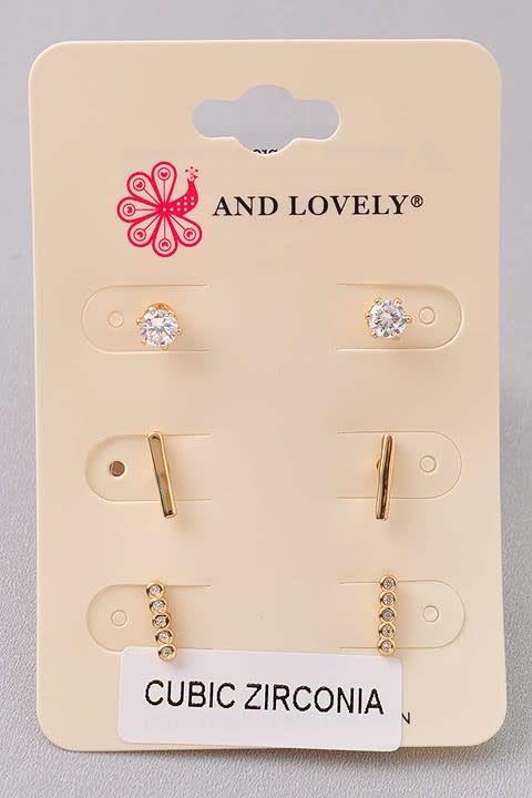 3 PC Dainty Earring Set