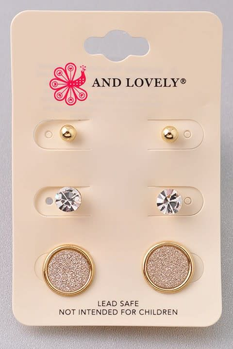 3 PC Circle Dainty Earring Set