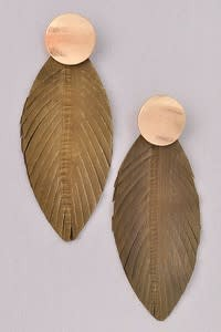 TearDrop Feather Earring