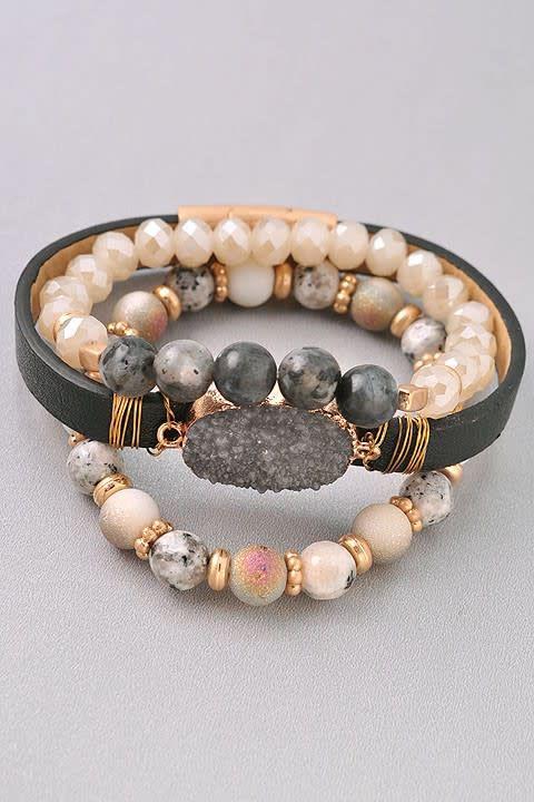 Unique Beaded Bracelet Set