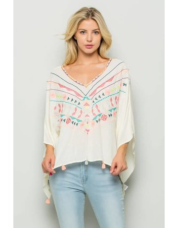 Bohemian Embroidery Top