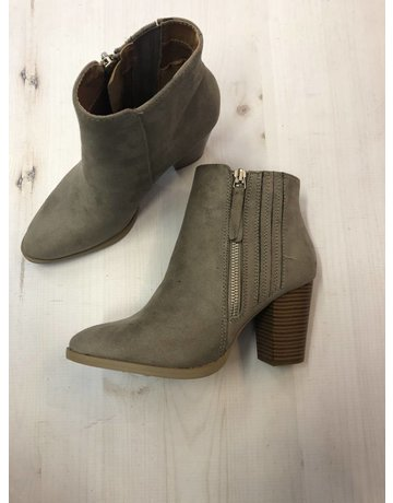 Qupid Taupe Side Detail Bootie