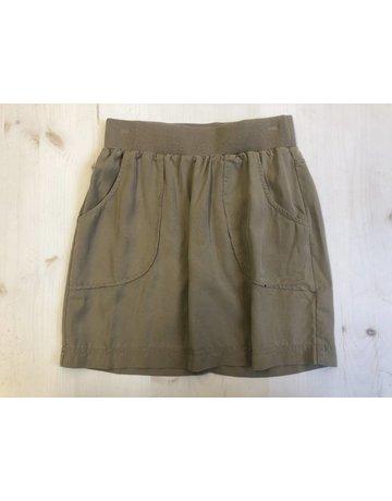 Elastic Waist Skirt w/Pockets