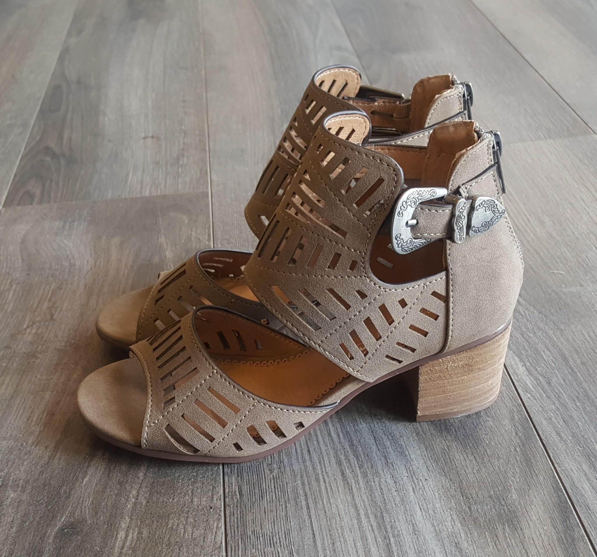 e3274121c33 Abby Heeled Cutout Sandals - Boutique 23