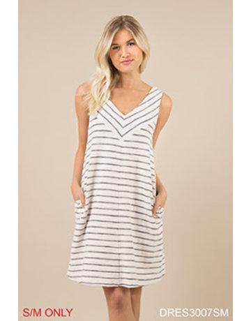 Terry Stripe Dress