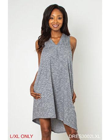 V-Right Back Asymetrical Hem Dress