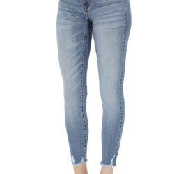 bd425567e974d KanCan Distressed Ankle Skinny Maternity - Boutique 23