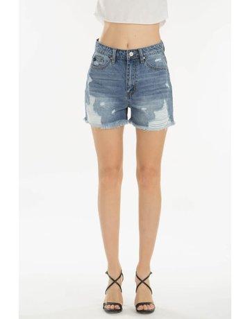 KanCan High Rise Shorts w/Stripe Patch