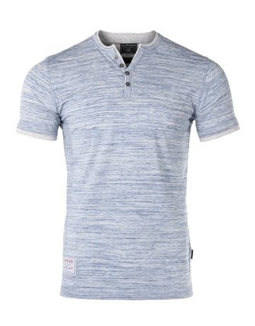 Short Sleeve Double Layer V-Neck Henley