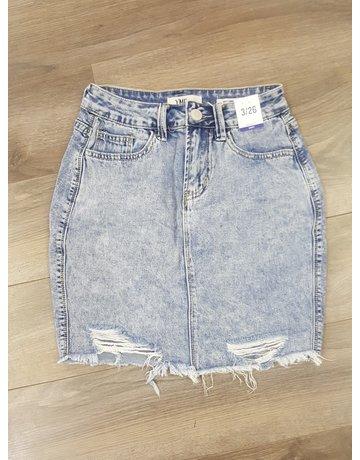YMI Dream Fray Hem Skirt