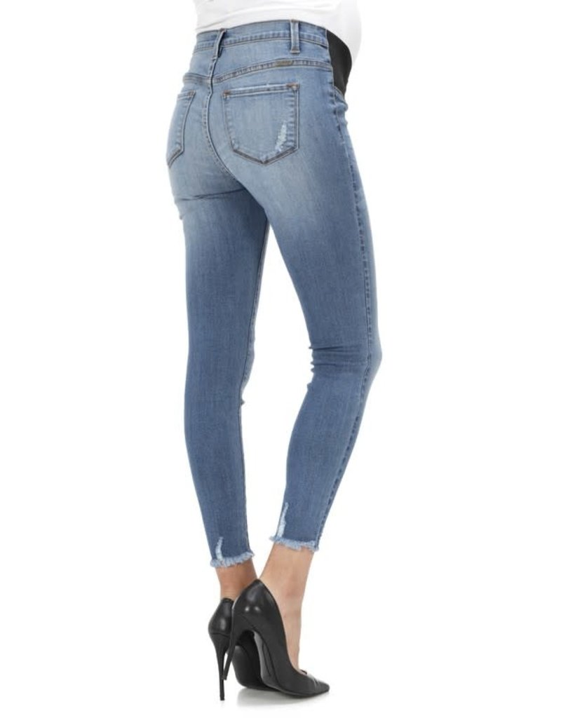 KanCan Distressed Ankle Skinny Maternity