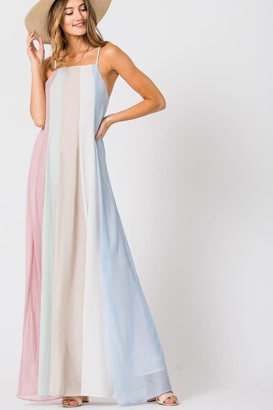 c2ff6c5f5bfab9 Pastel Rainbow Goddess Maxi Dress - Boutique 23