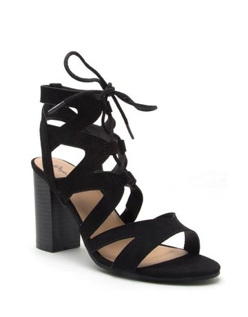 Laced Up Heeled Bootie