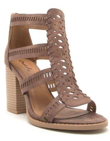 Cutout Chunky Heel Sandals