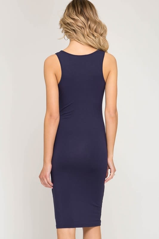 Basic Bodycon Mid Dress