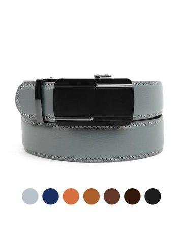 Leather Sliding Buckle Belt