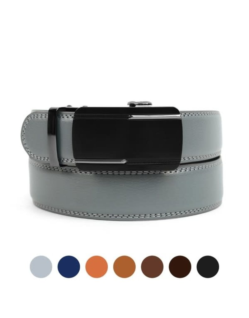 Leather Sliding Buckle Belt