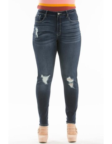 KanCan Curvy Distressed Denim