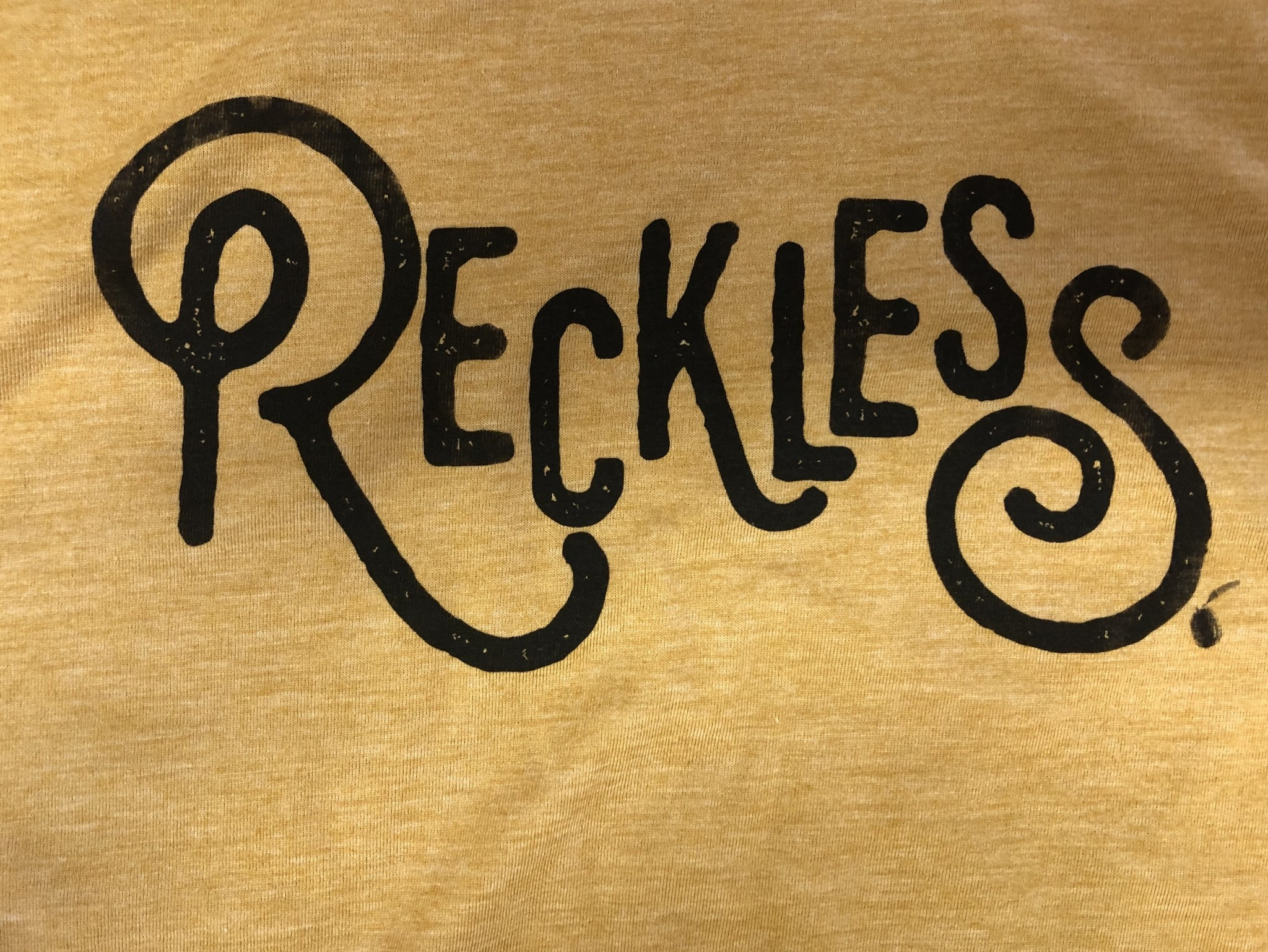 Reckless w/ Cut Hemline Tee