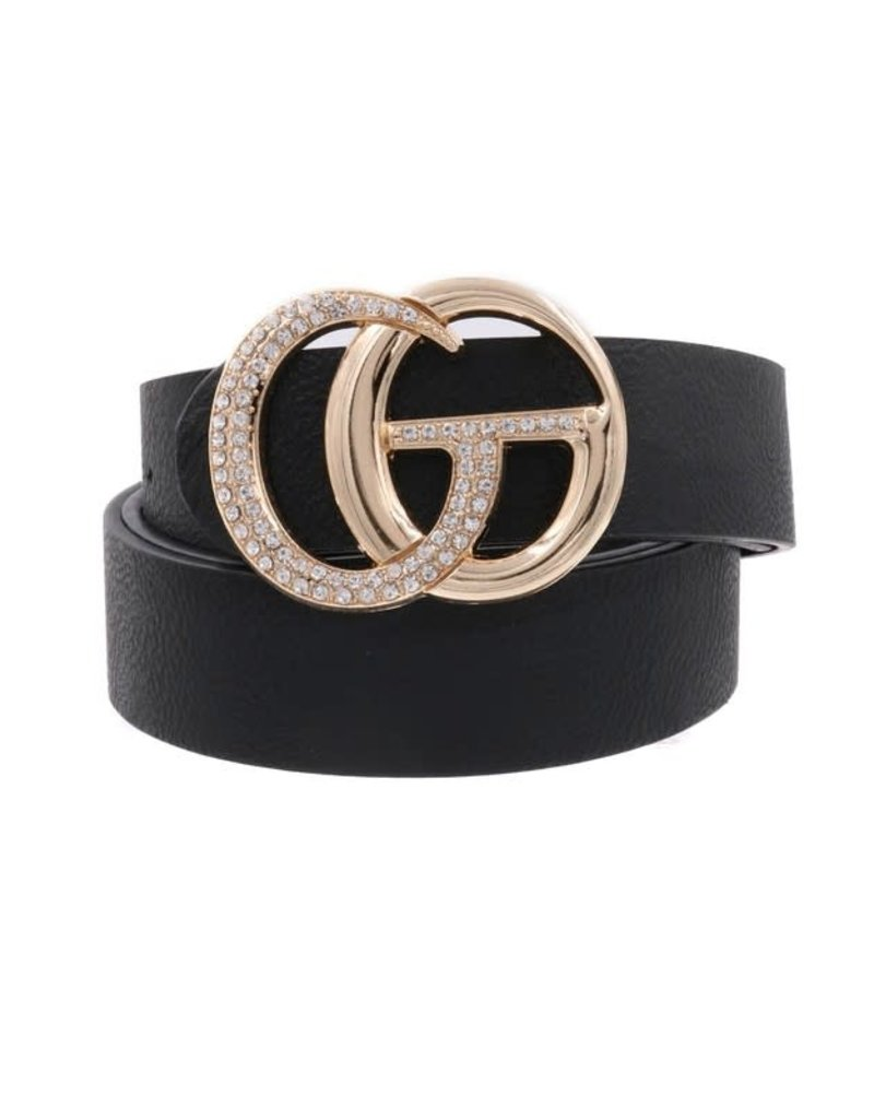 Rhinestone Double Ring Belt