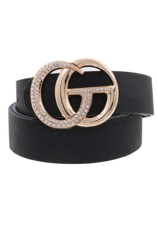 Rhinestone Double Ring Belt