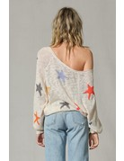 Knit Multi Color Star Pull Over