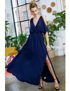 Cold Shoulder Trim Lace Maxi Dress