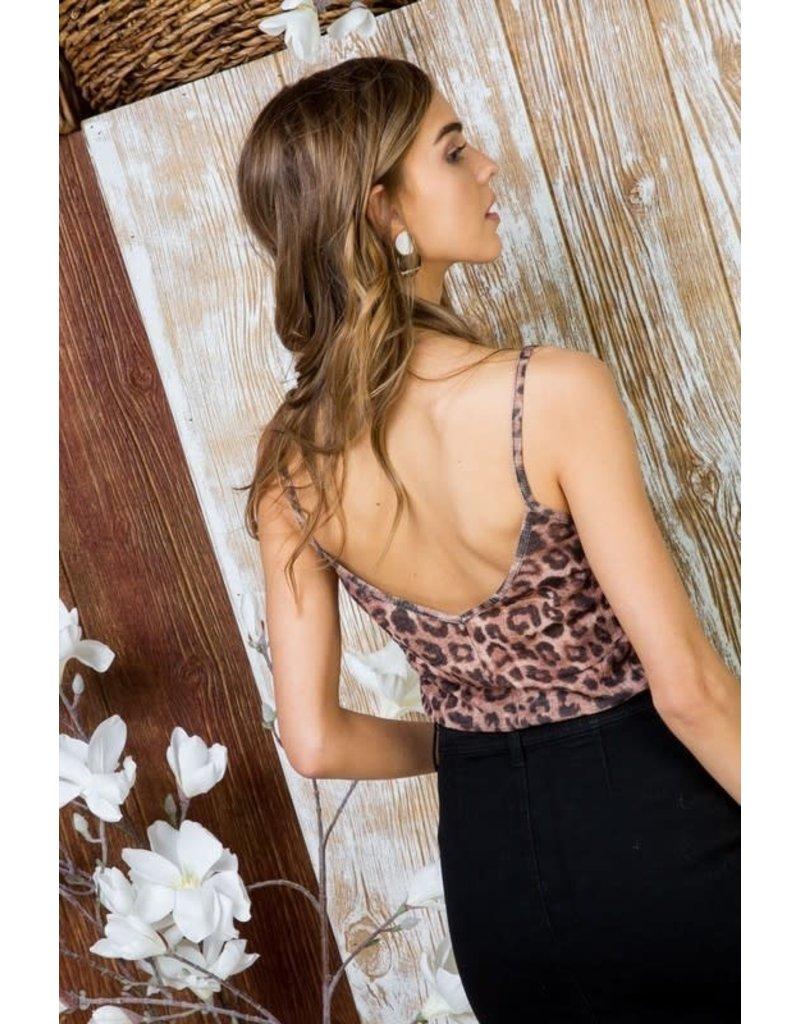 Scallop Edge Neck Leopard Print Cami