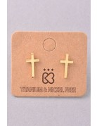 Metallic Cross Studs