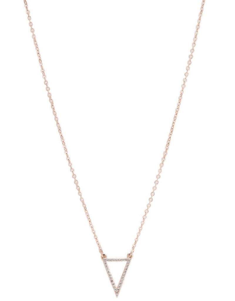 Karma Dainty Triangle Necklace