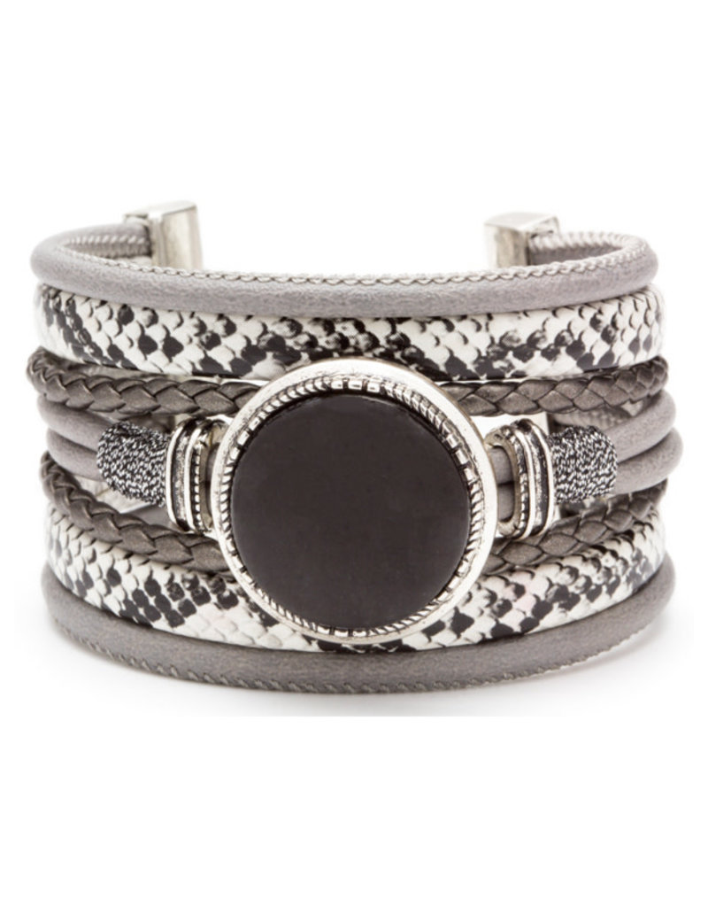 Adjustable Layered Focal Bracelet