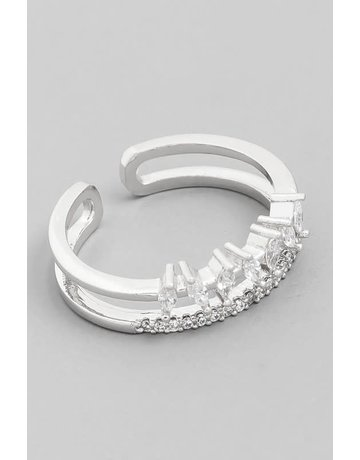 Jeweled Double Band Ring