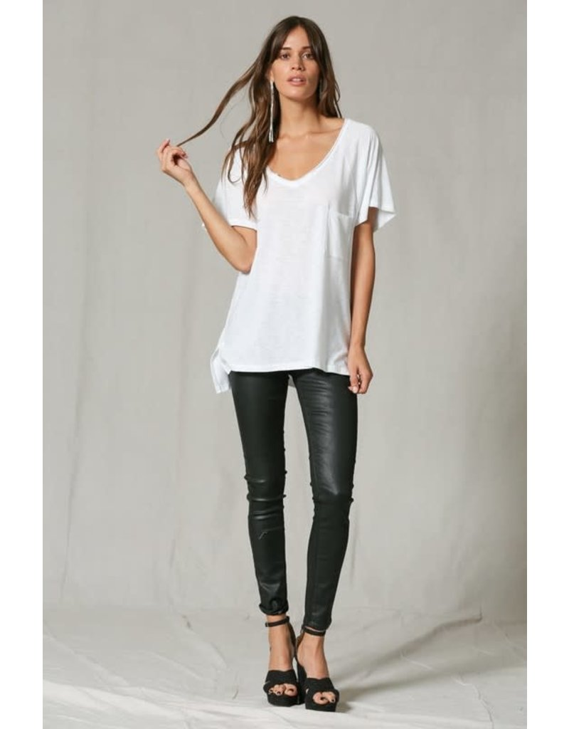 V-Neck Oversized Basic T-Shirt