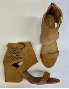 Tan Cutout Detail Heel