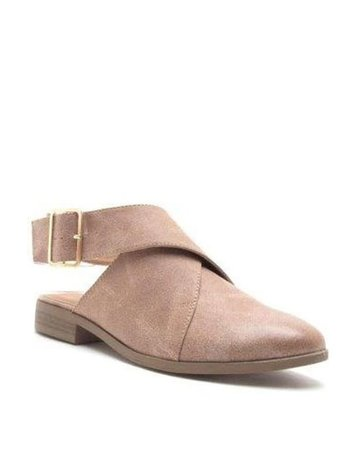 LA Shoe King Taupe Strap Back Loafers
