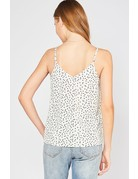 Entro Dotted Tank w/ lace detail