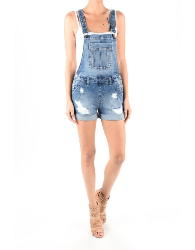 KanCan Cuffed Overall Shorts