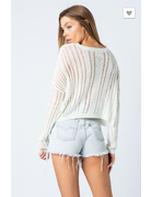 cozy casual Lightweight Cropped Sweater