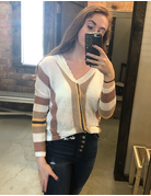 cozy casual Striped Lightweight Sweater