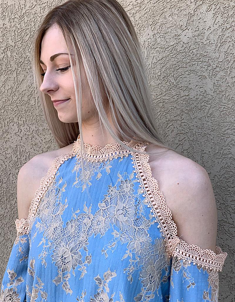 Lace Cold-Shoulder Top
